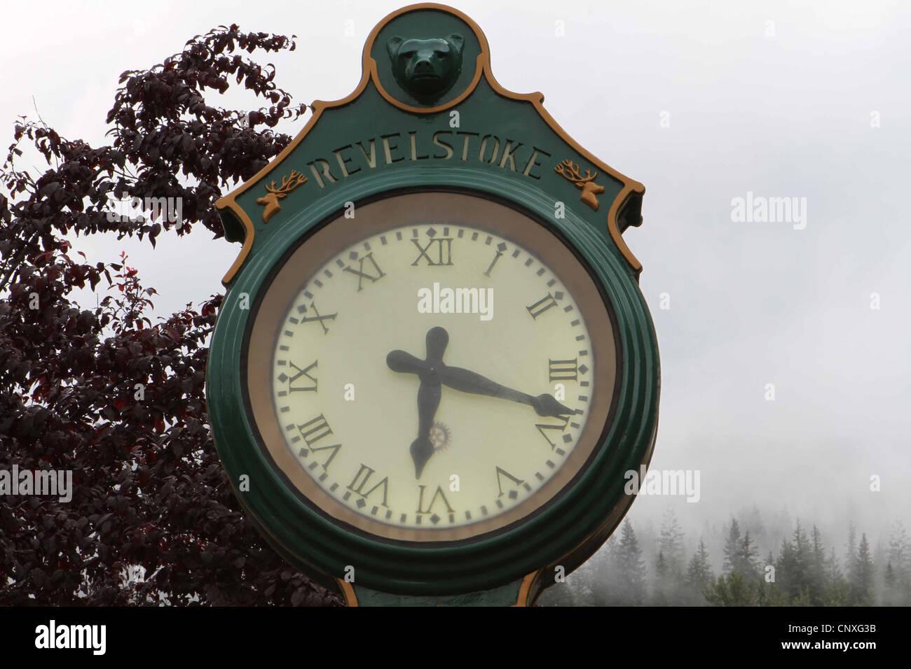Antique town clock - Stock Image