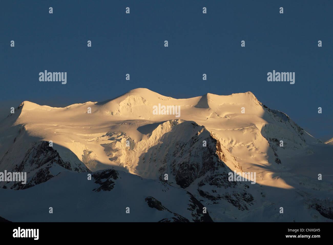 view from Pontresina to Piz Palue, Switzerland, Graubuenden, Engadine Stock Photo