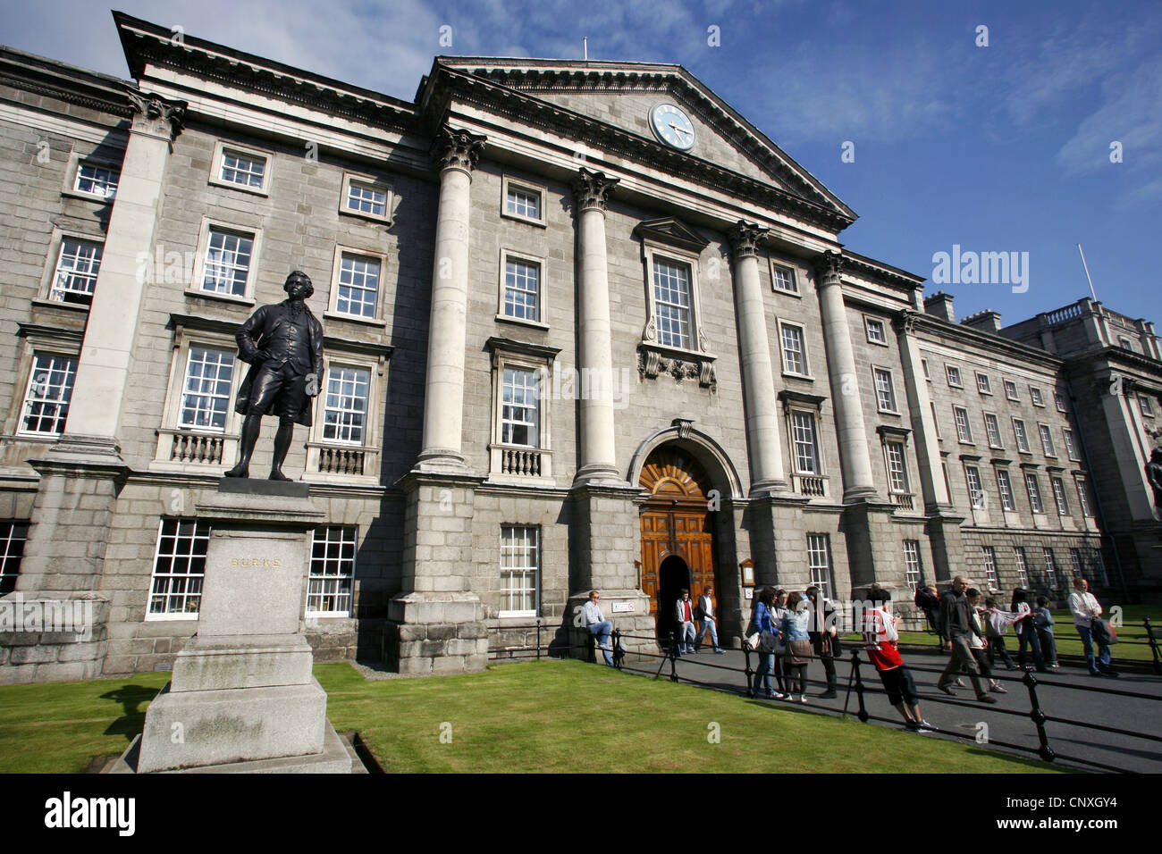 Trinity College, Main Entrance, Dublin, Ireland - Stock Image