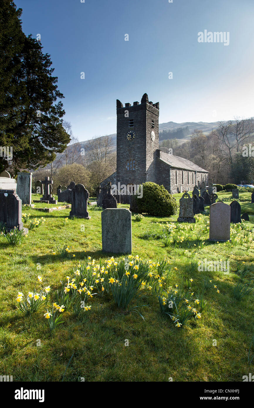 Jesus Church, Troutbeck, Lake district National Park, Cumbria - Stock Image