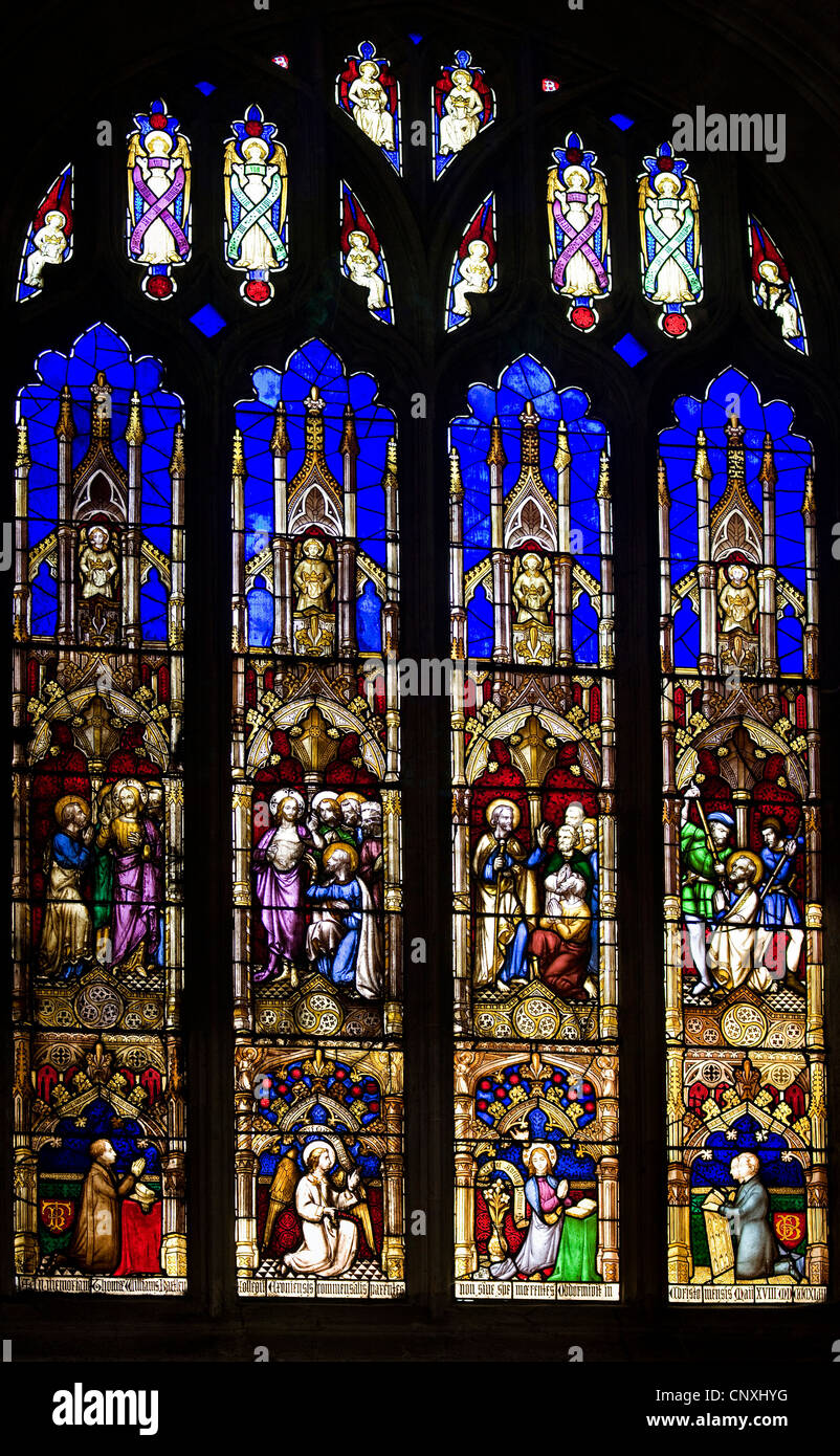 Stained glass window by Augustus Pugin - Stock Image