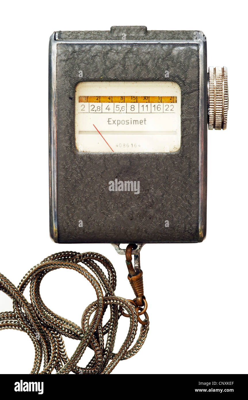 exposure meter - photo equipment - Stock Image
