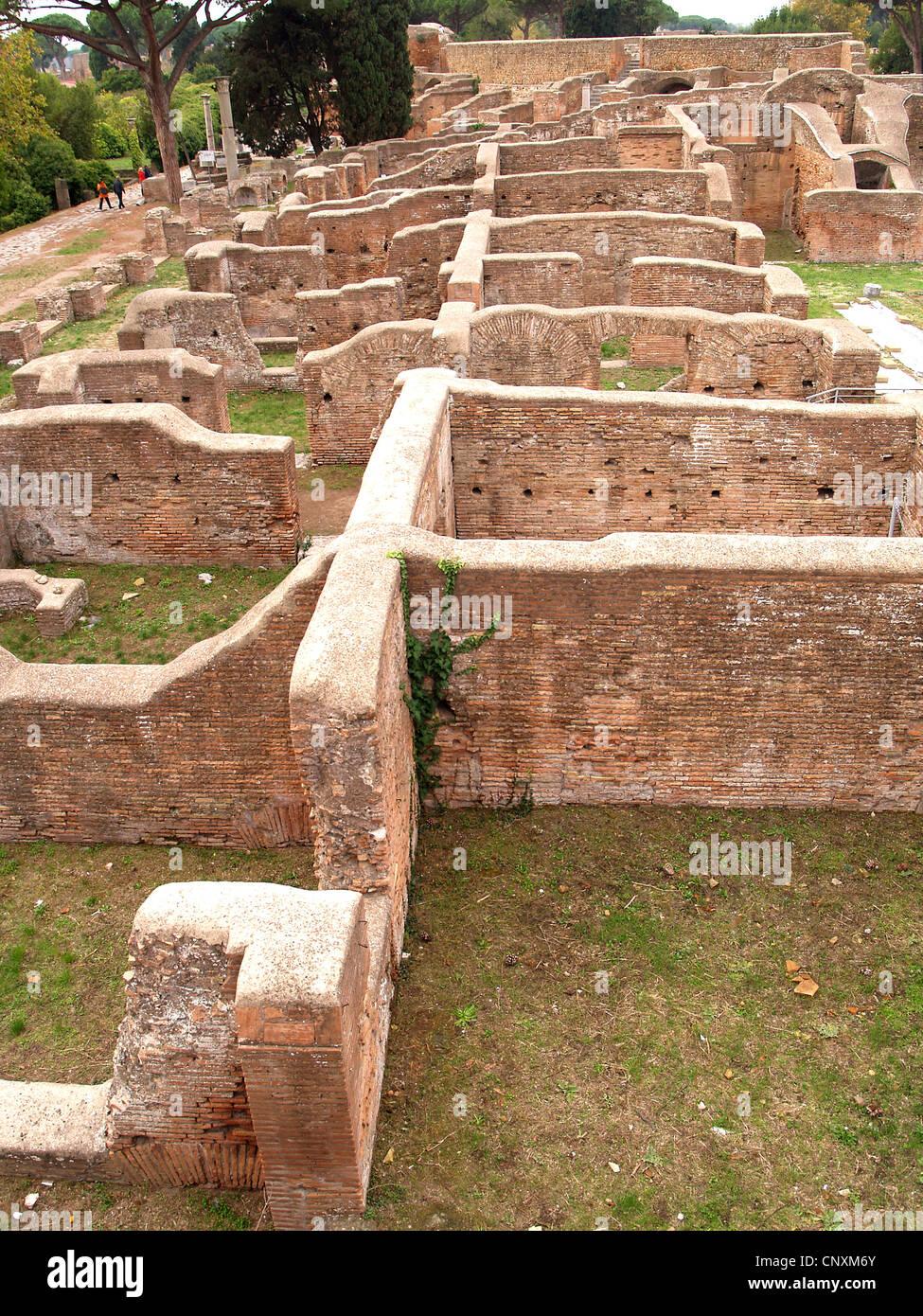 Warehouses,Ostia Antica,Rome - Stock Image
