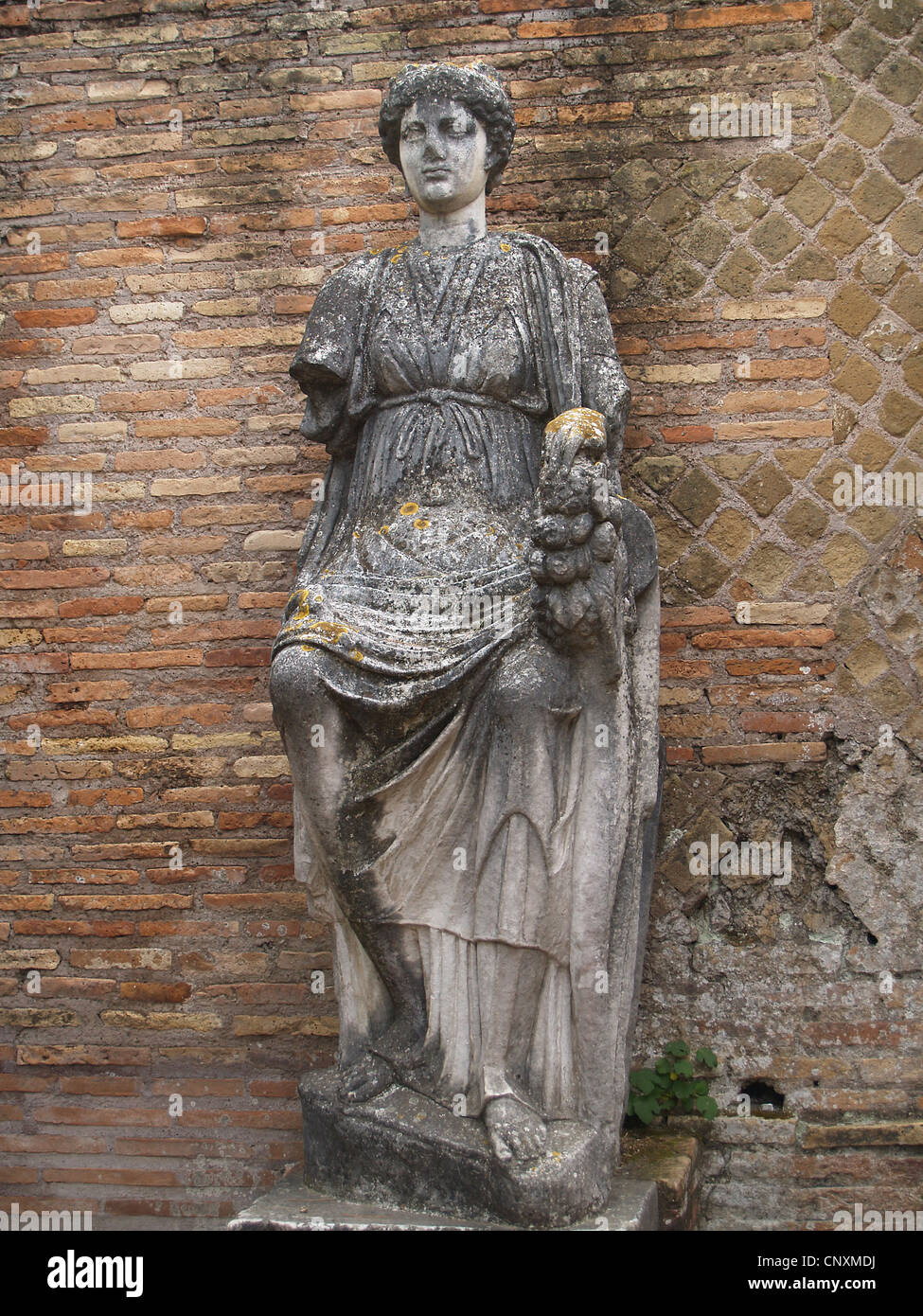 Roman statue at Ostia Antica, Rome - Stock Image