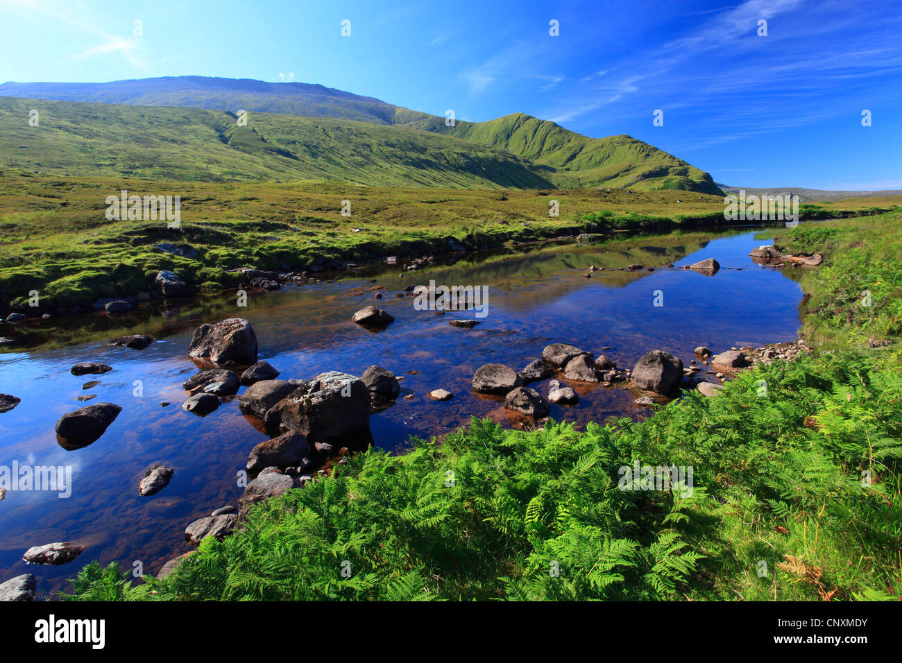 river in the Scottish Highlands, United Kingdom, Scotland, Sutherland, Durness - Stock Image