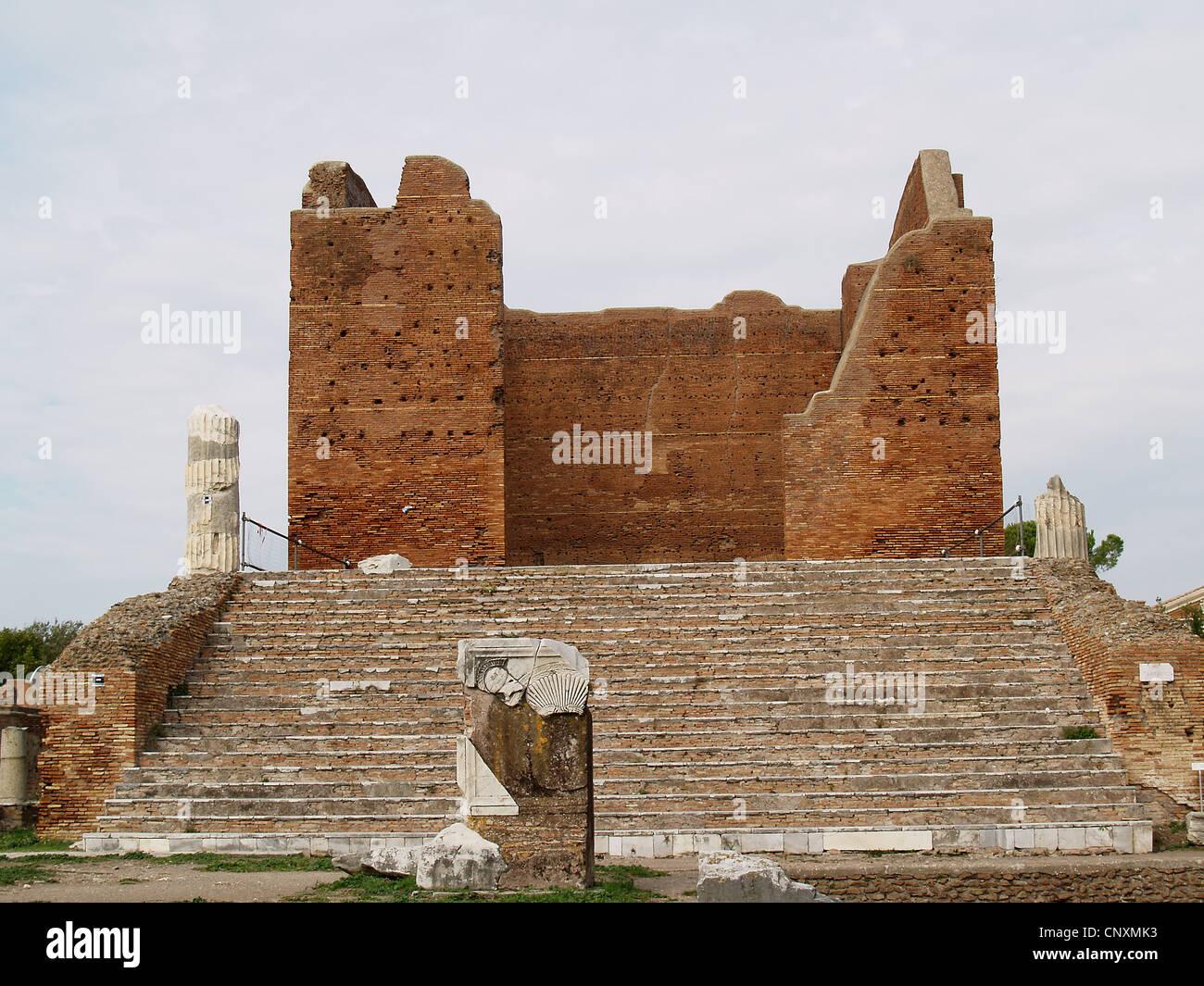 Roman Capitolium in Ostia Antica,Rome - Stock Image