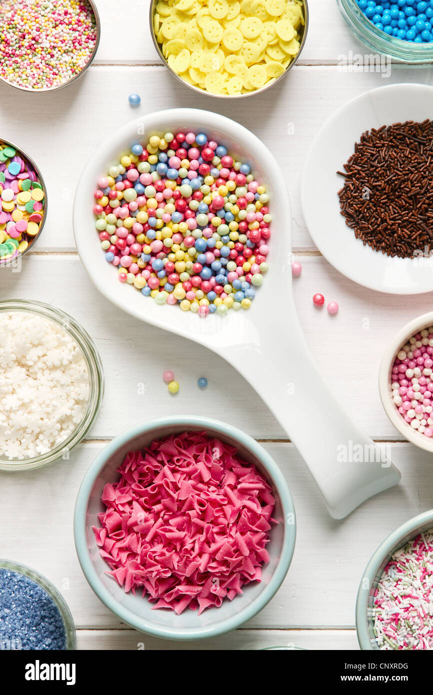 Candy sprinkles - Stock Image