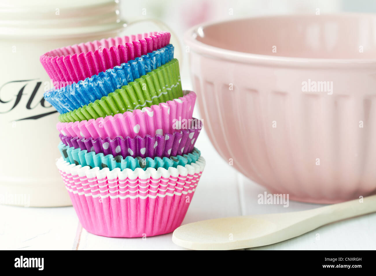 Cupcake cases - Stock Image