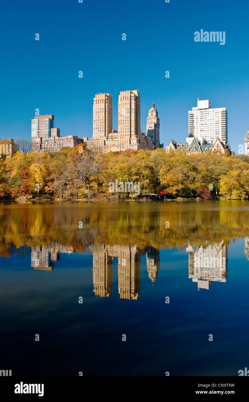 Central Park West Upper West Side - Stock Image