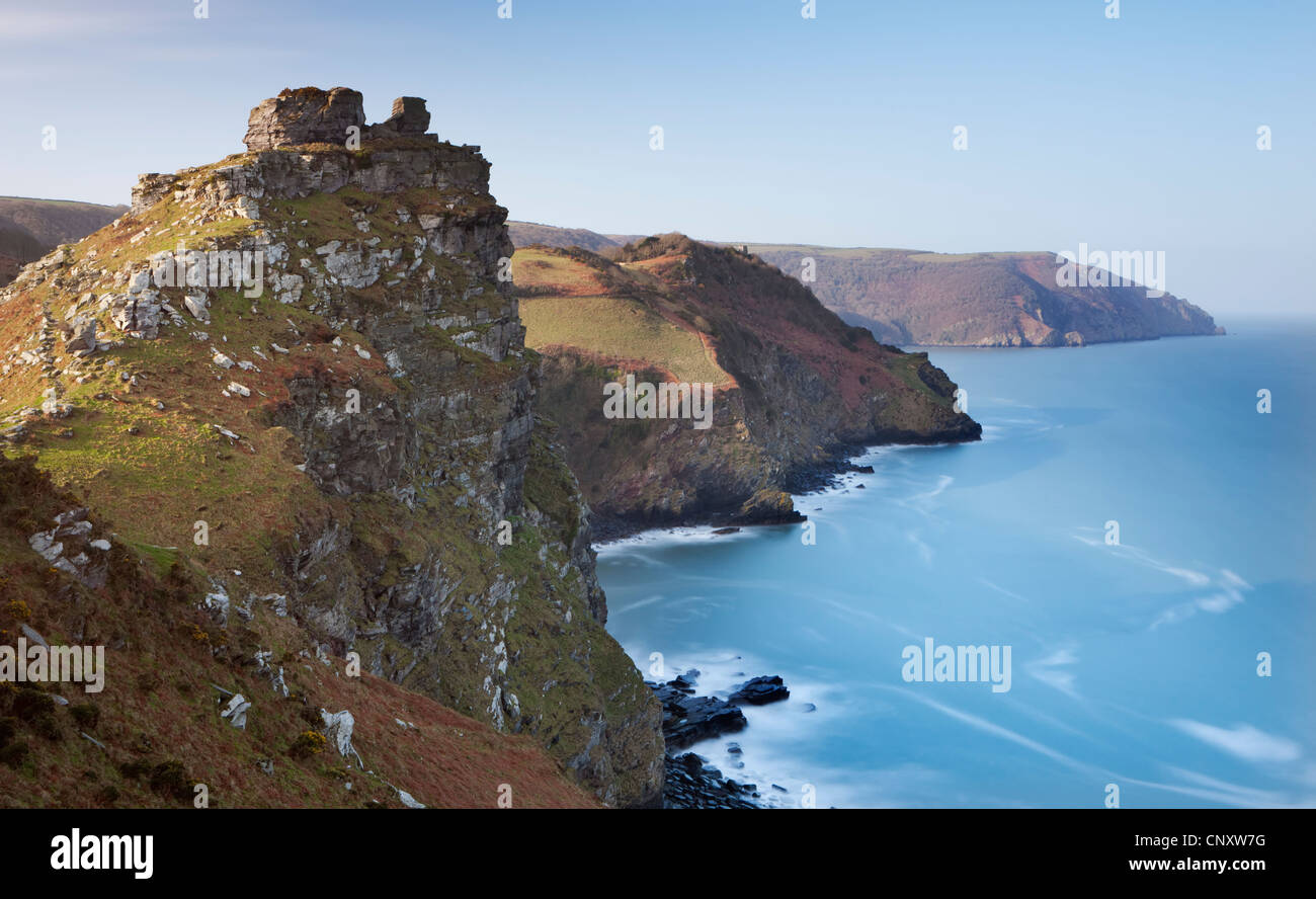 Valley of Rocks, Exmoor, Devon, England. Spring (March) 2012. - Stock Image