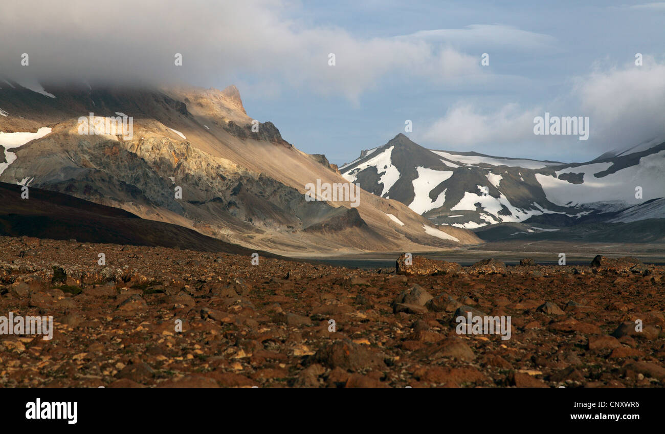 Kaldidalur valley, Iceland - Stock Image