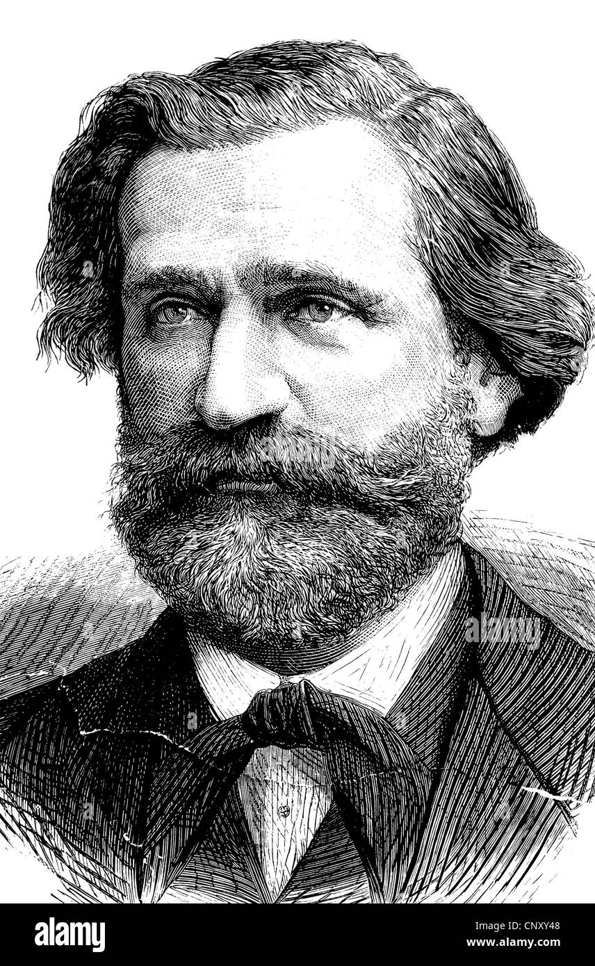Giuseppe Francesco Fortunino Verdi (1813-1901) was an Italian Romantic composer, who became famous for his operas - Stock Image