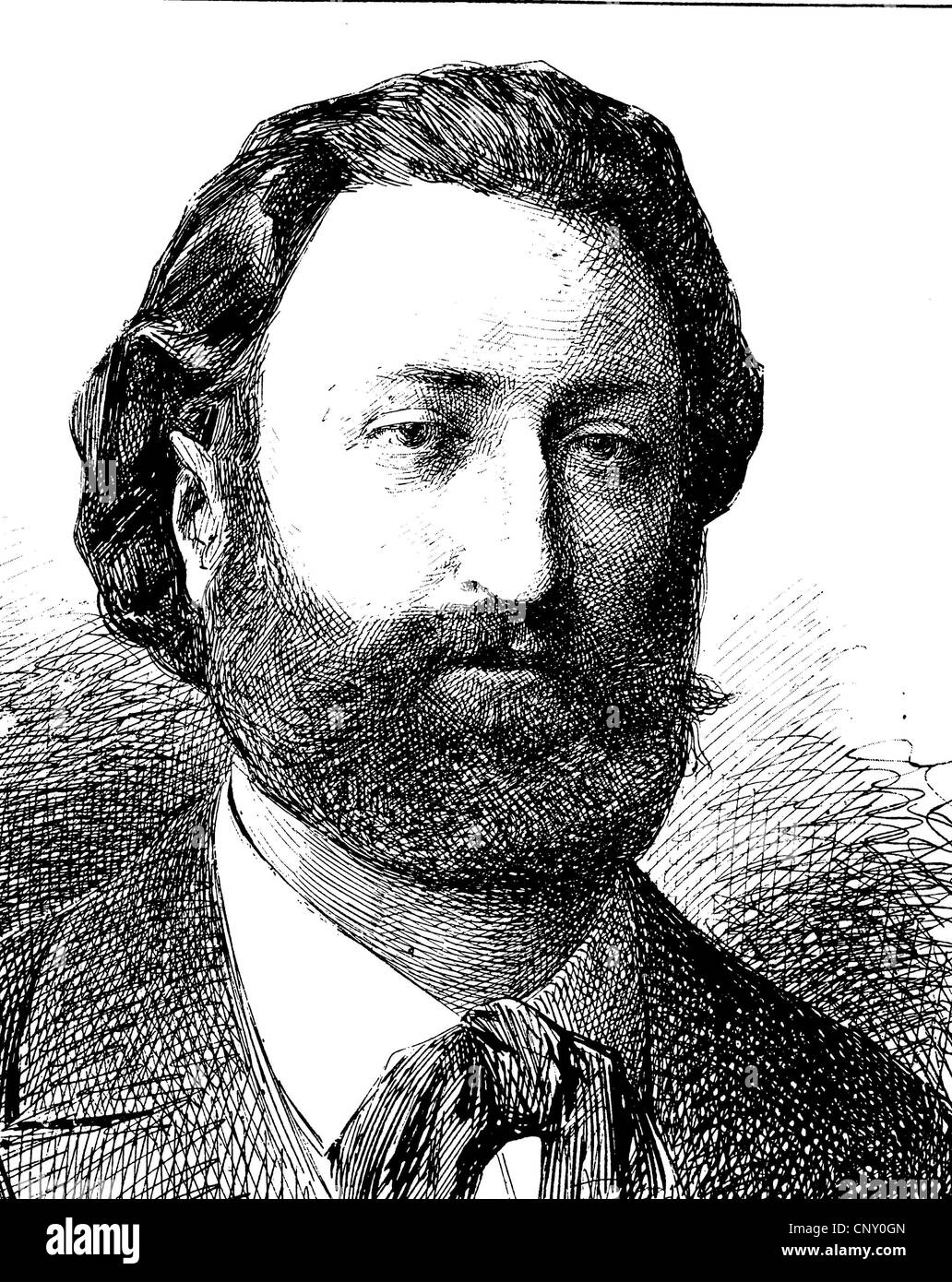 Lambert Joseph Emmanuel Servais, 1811-1890, was a Luxembourgian politician and writer. - Stock Image