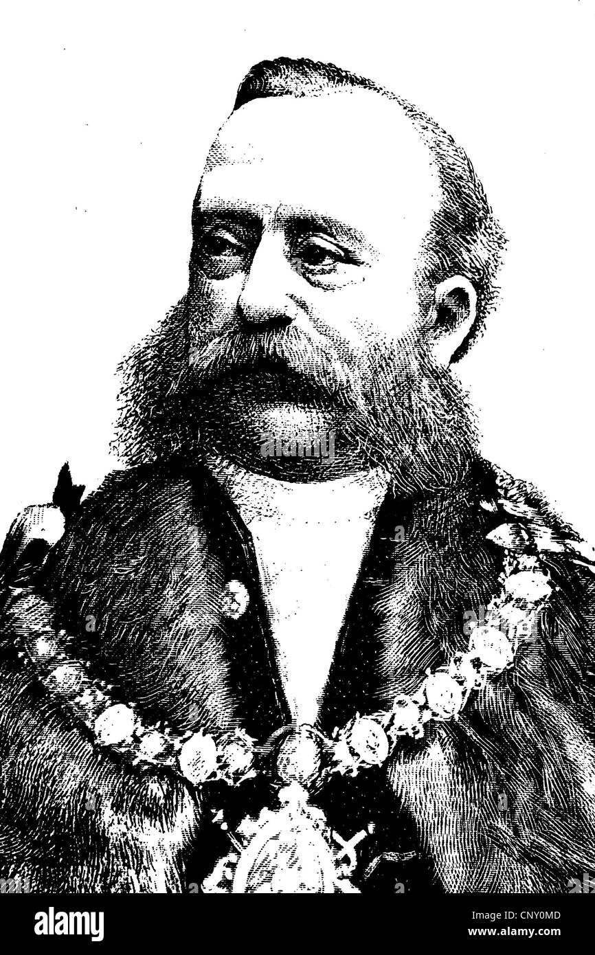 Polydore de Keyser, 1832-1918, Lord Mayor of London 1887 - Stock Image
