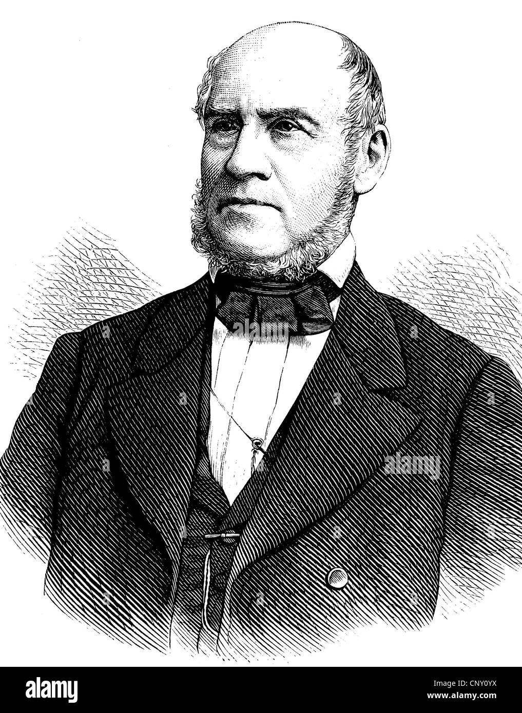 August Reichensperger, 1808 - 1895, a German lawyer, politician and supporter of the construction of the Cologne - Stock Image