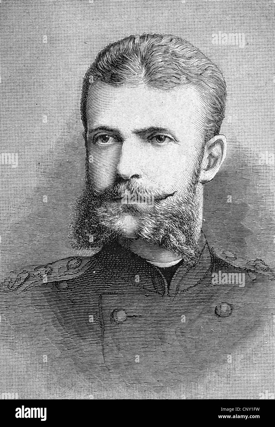 Grand Duke Sergei Alexandrovich of Russia, 1857 - 1905, member of the Russian government from the House of Romanov - Stock Image
