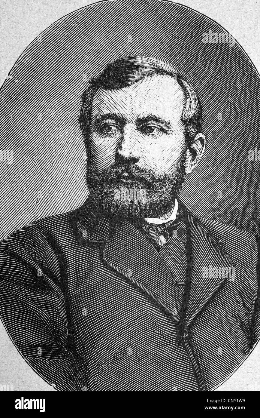 Paul Pogge, 1838-1884, full name Paul Friedrich Johann Moritz Pogge, Africa explorer, historical engraving, about - Stock Image