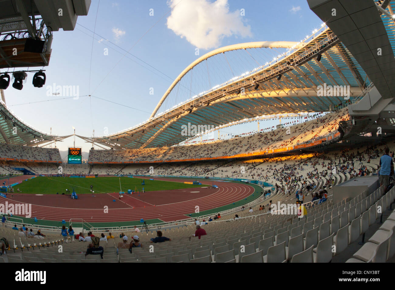 General view of Olympic Stadium in Athens, Greece August 28, 2004. - Stock Image