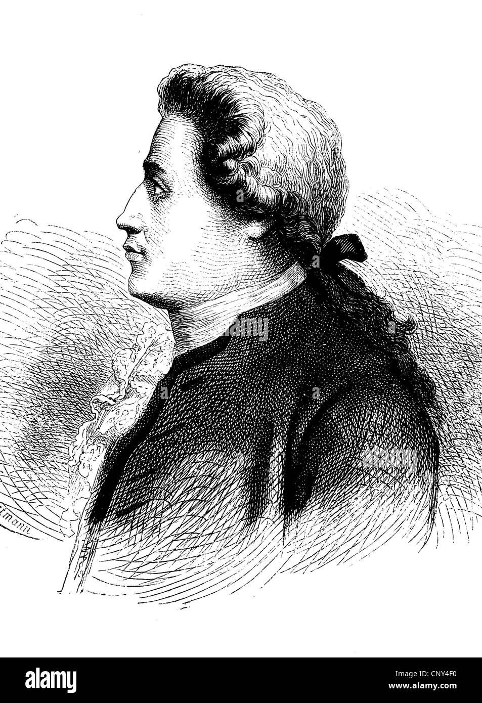 Johann Georg Adam Forster (1754-1794) was a German naturalist, ethnologist, travel writer, journalist, essayist - Stock Image
