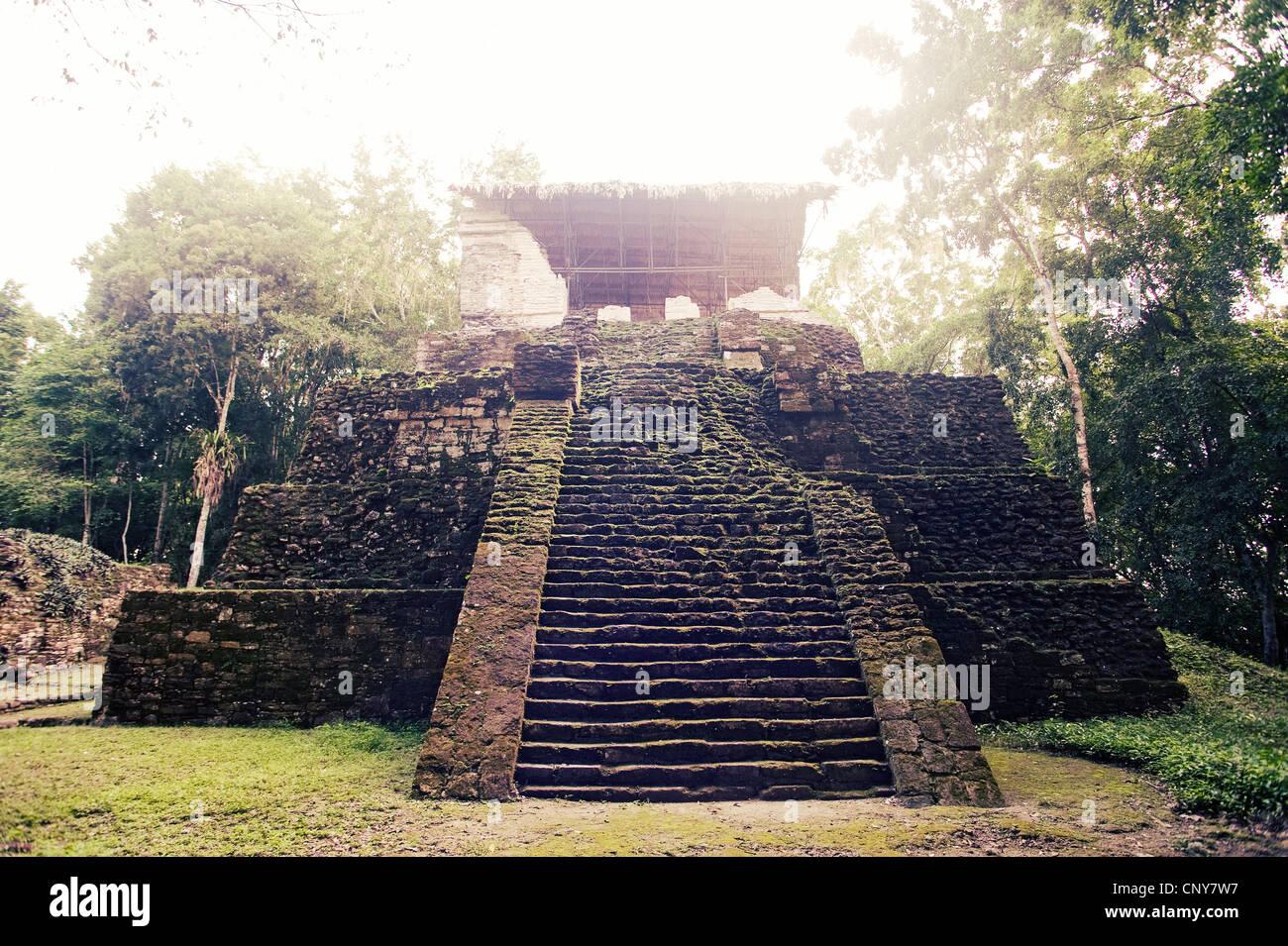 Ruins of Topoxte, Guatemala - Stock Image
