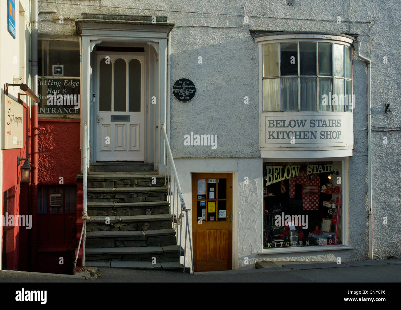 The Old Stamp House (where William Wordsworth worked) in the town of Ambleside, Cumbria England UK - Stock Image