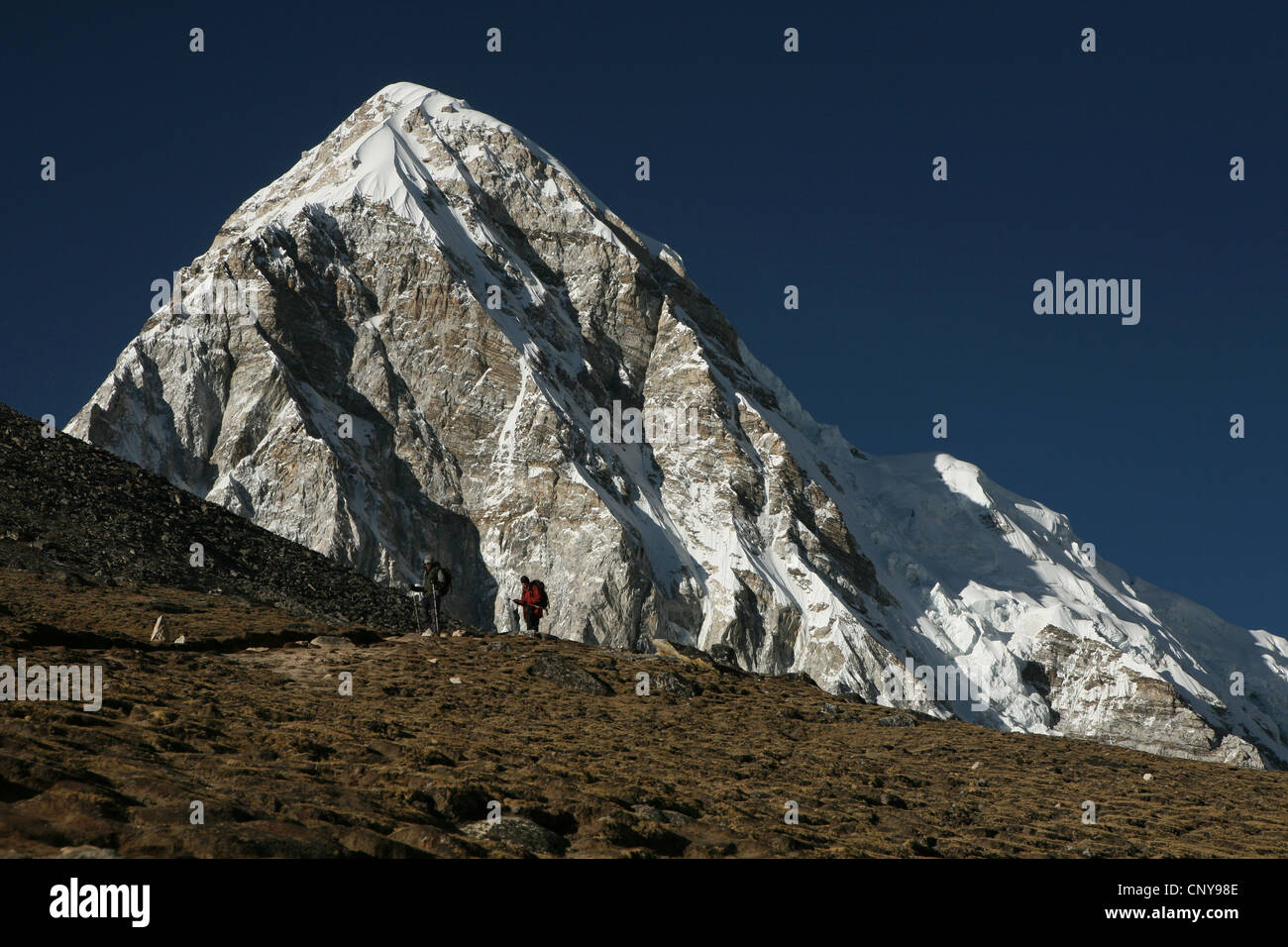 Mount Pumori (7,161 m) in Khumbu region in the Himalayas, Nepal. - Stock Image