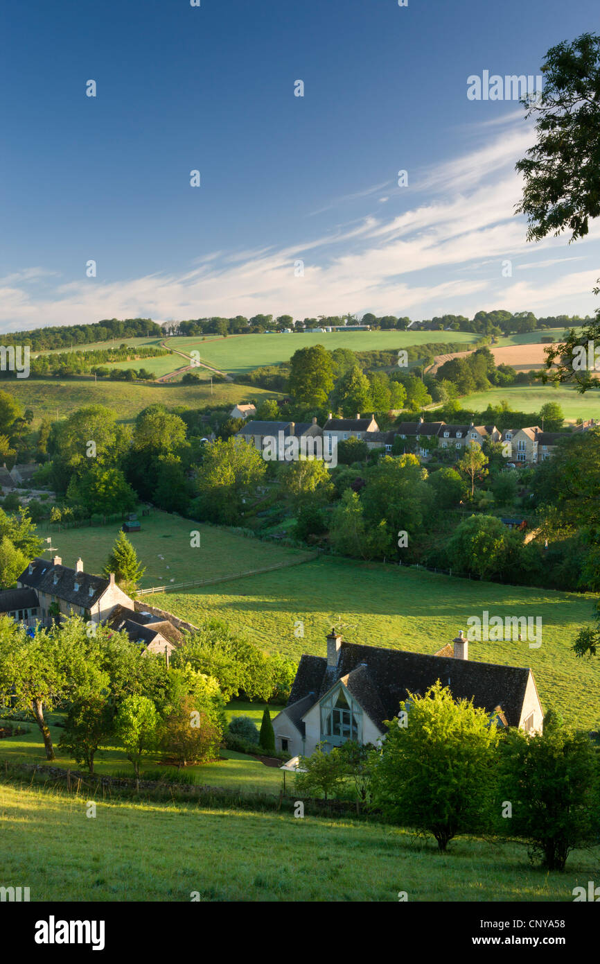 The picturesque village of Naunton in the Cotswolds, Gloucestershire, England. Summer (July) 2010. - Stock Image