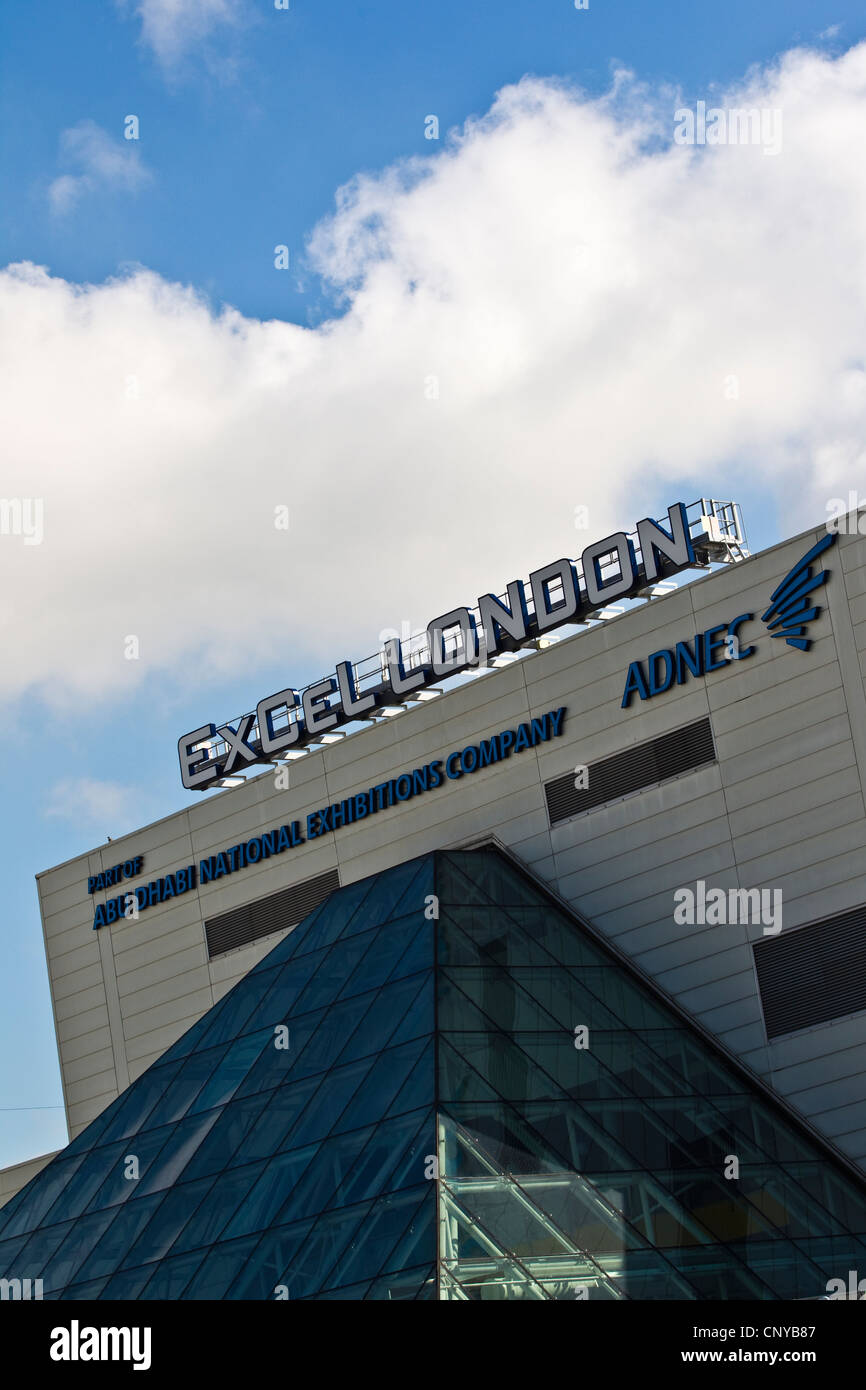 ExCel London International exhibition and Convention Centre Venue East London. - Stock Image
