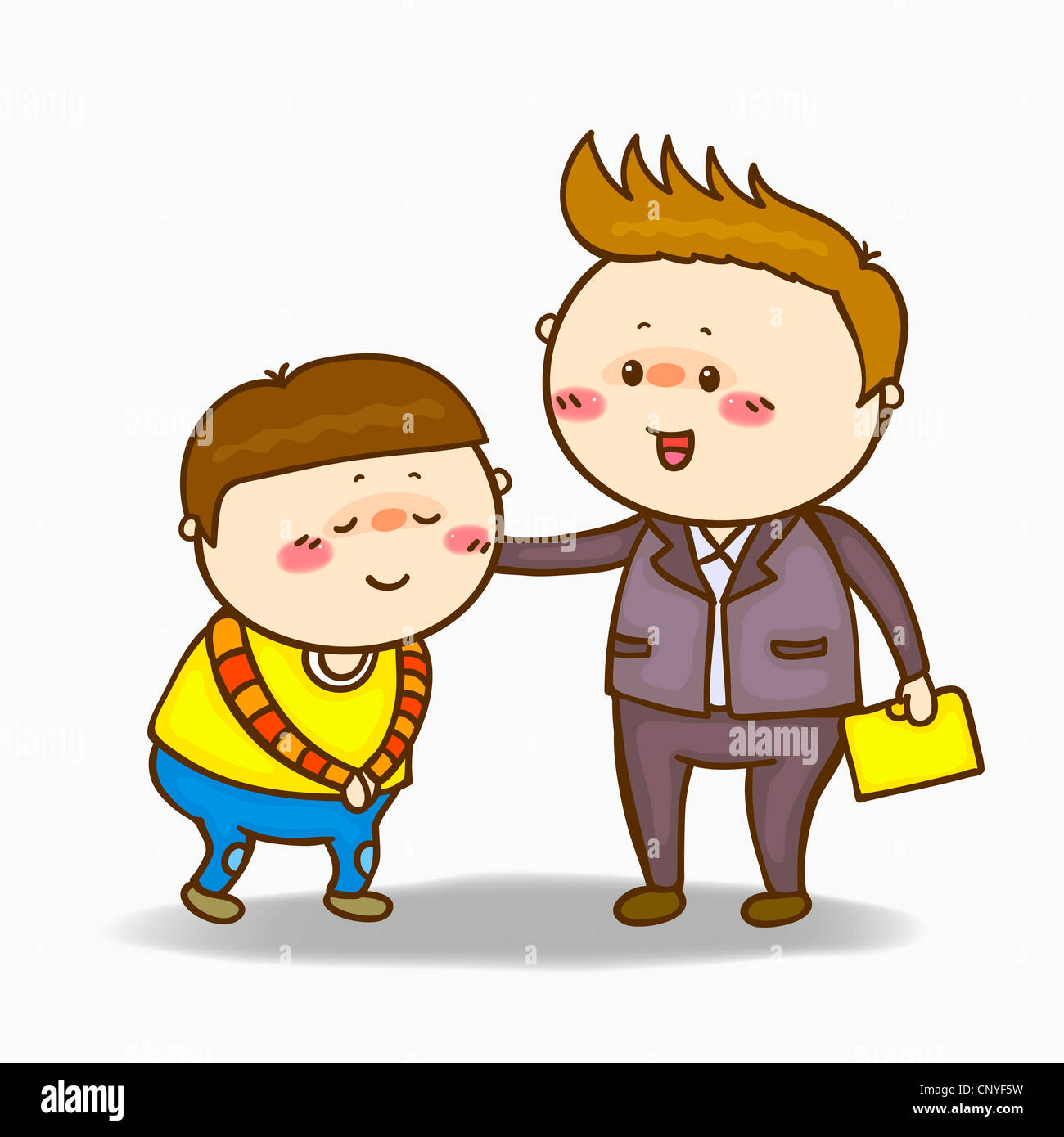 Elementary student greeting teacher cut out stock images pictures a boy greeting to the teacher stock image m4hsunfo