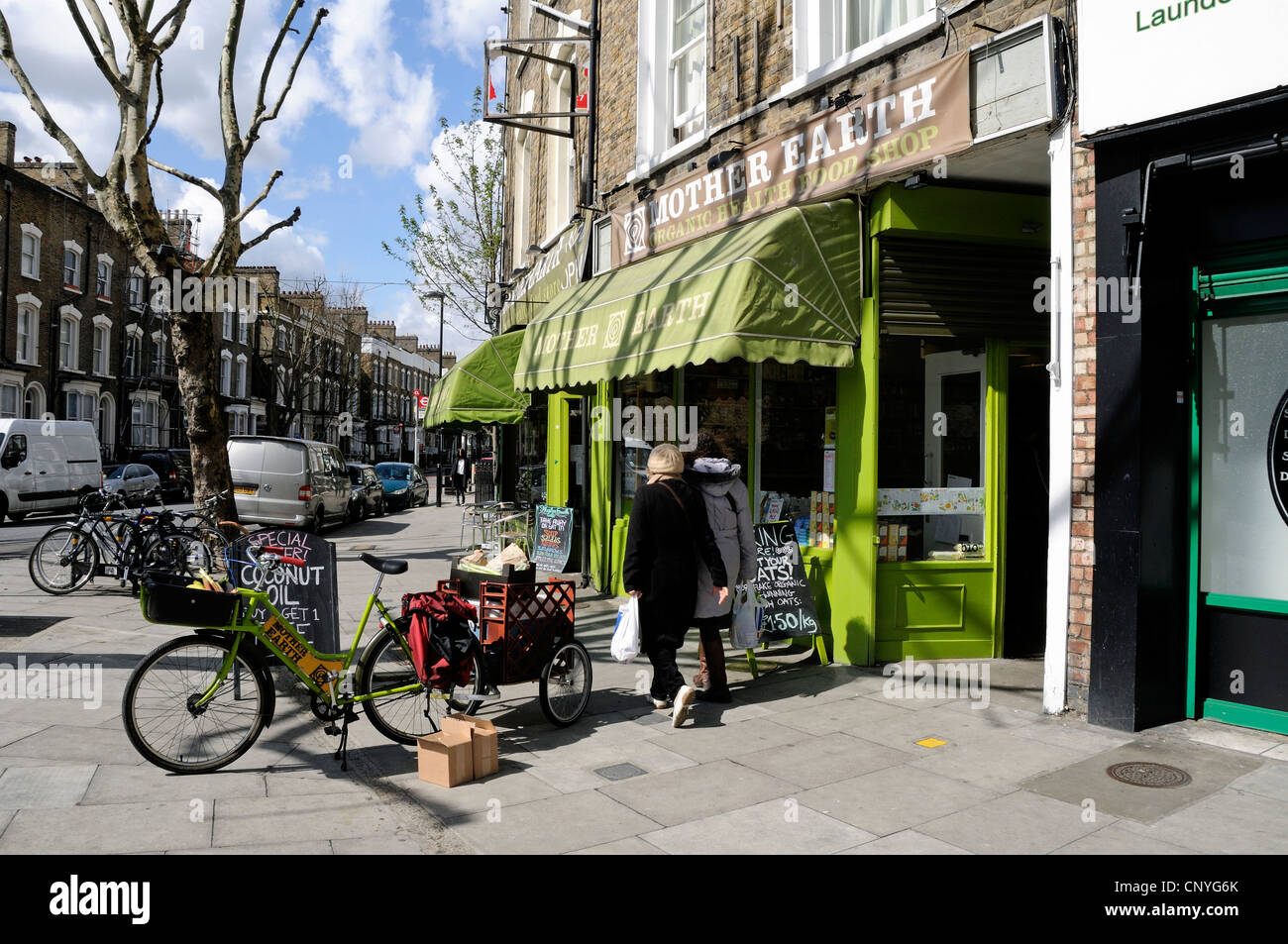 Mother Earth Organic Health Food Shop With Delivery Bike In