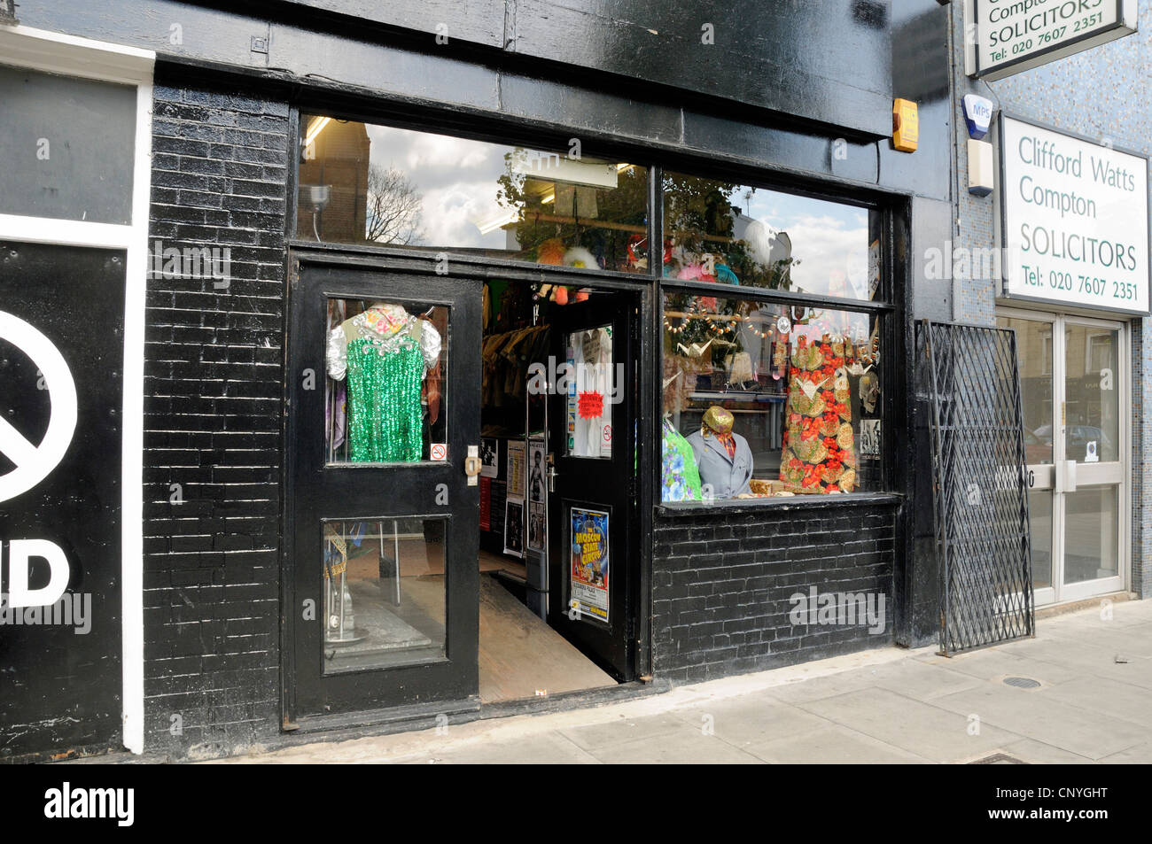 London Vintage Store, 21st century retro clothes shop on Holloway Road London Borough of Islington England UK - Stock Image