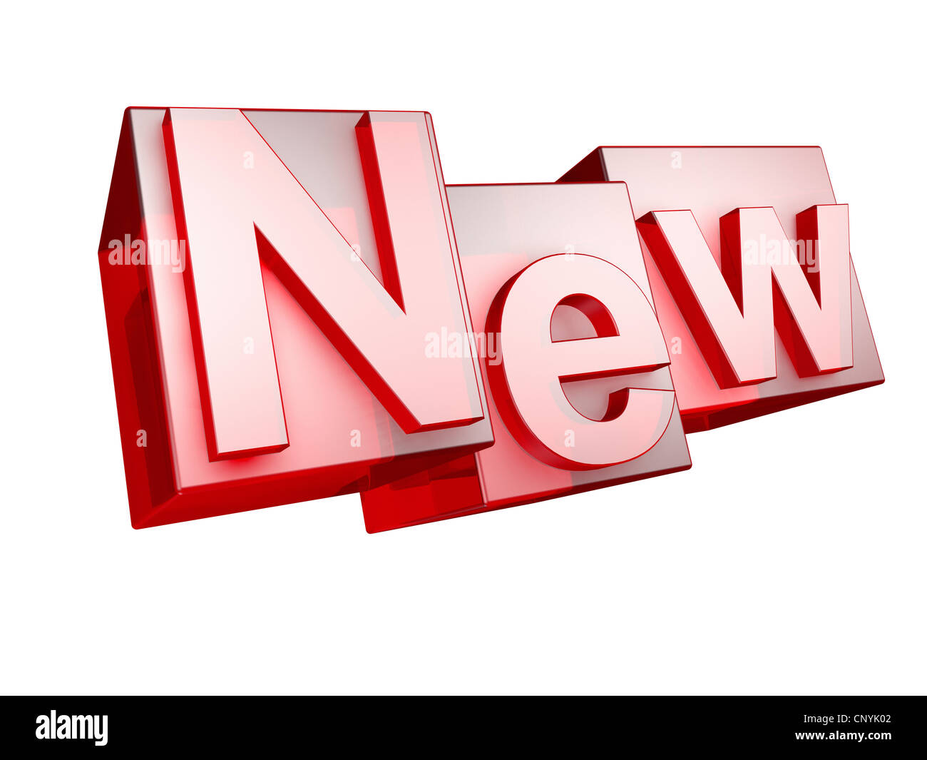 Word New In 3d Letters Stock Photos & Word New In 3d Letters