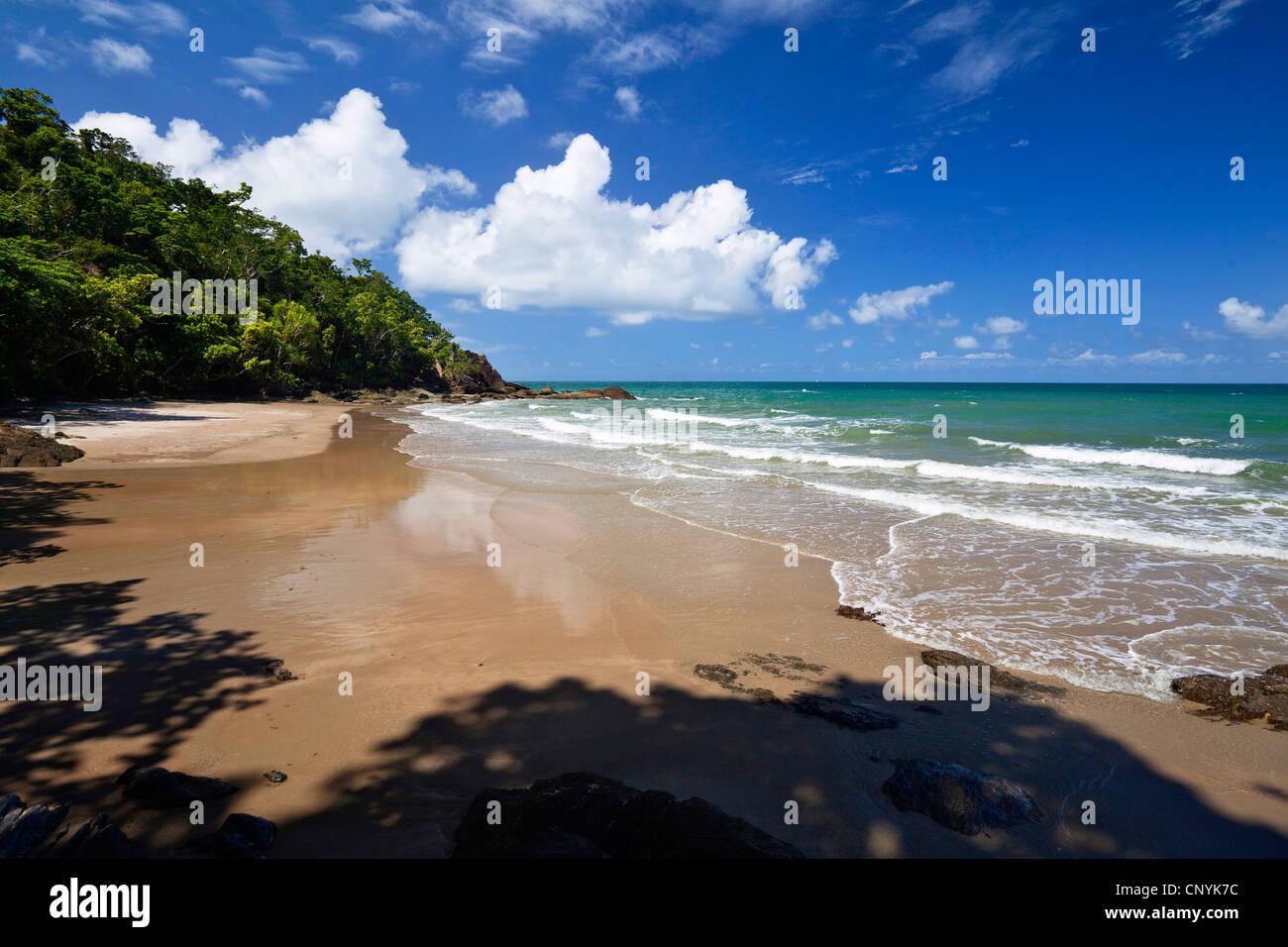 Etty Bay near Innisfail, Australia, Queensland, Moresby Range National Park - Stock Image