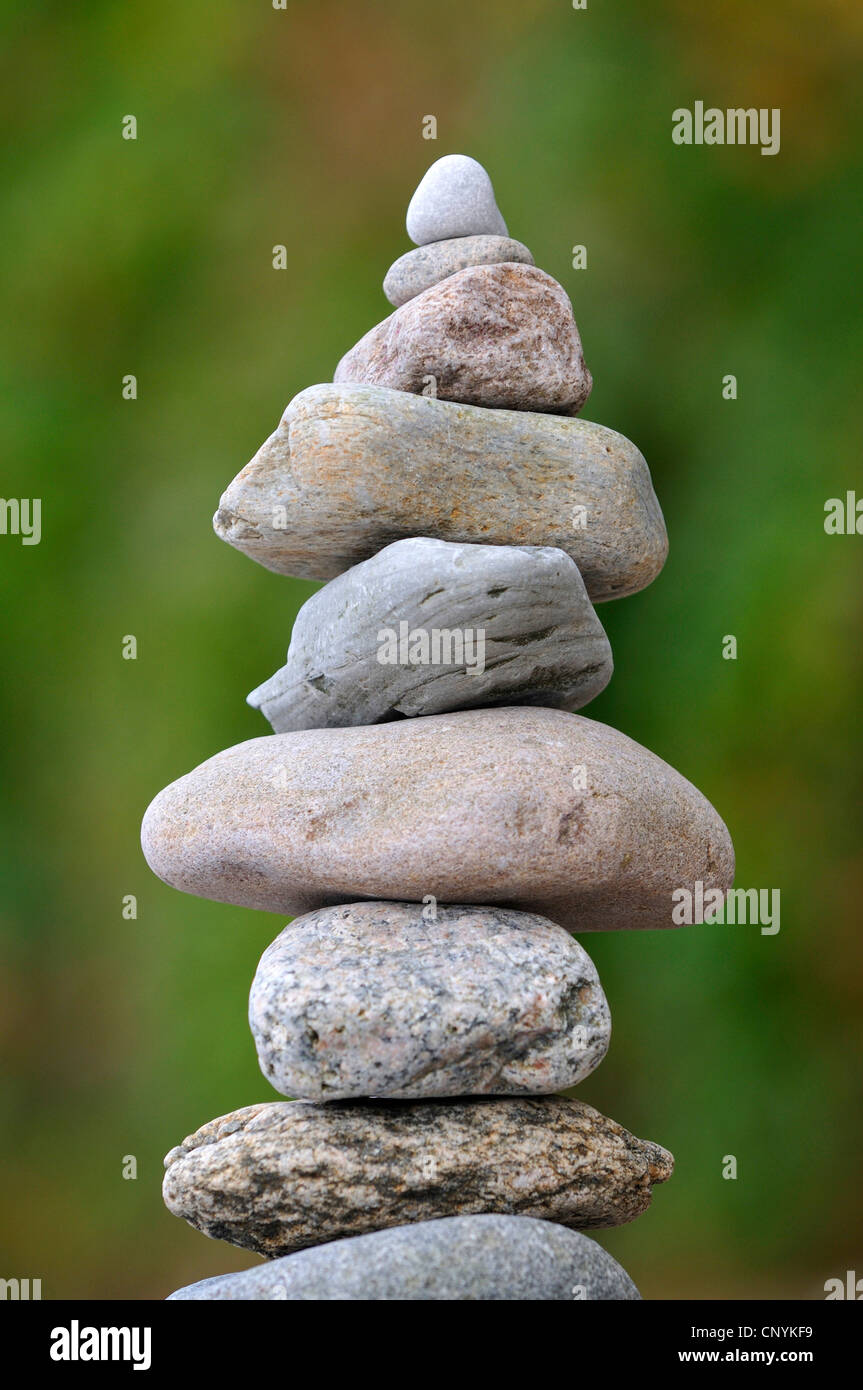 pebble stone tower, Germany - Stock Image