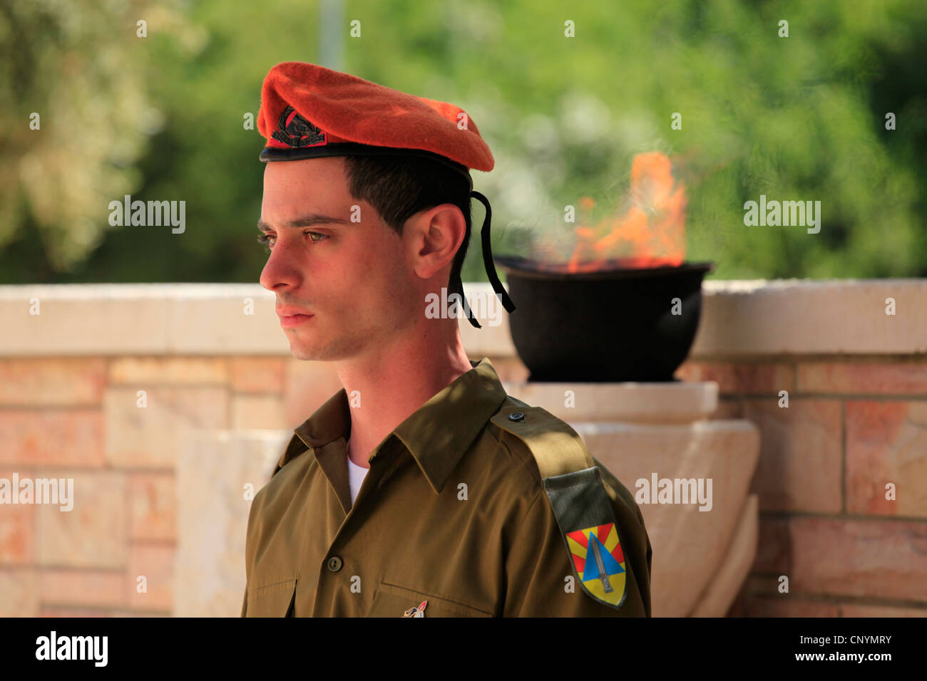 Israeli soldier from the Search and Rescue Brigade a highly skilled force trained to execute special search and Stock Photo