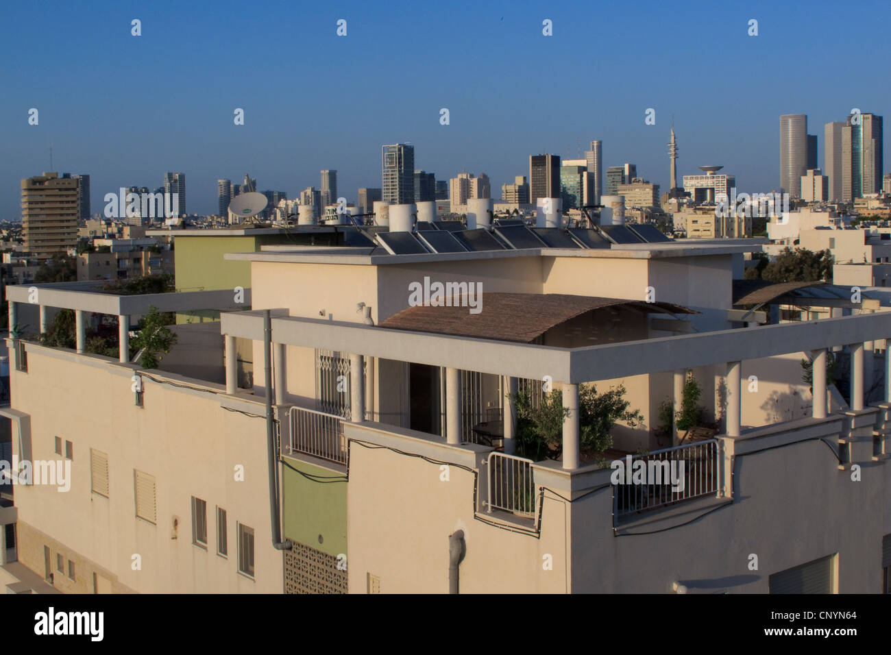 Scape of Tel Aviv downtown Israel - Stock Image