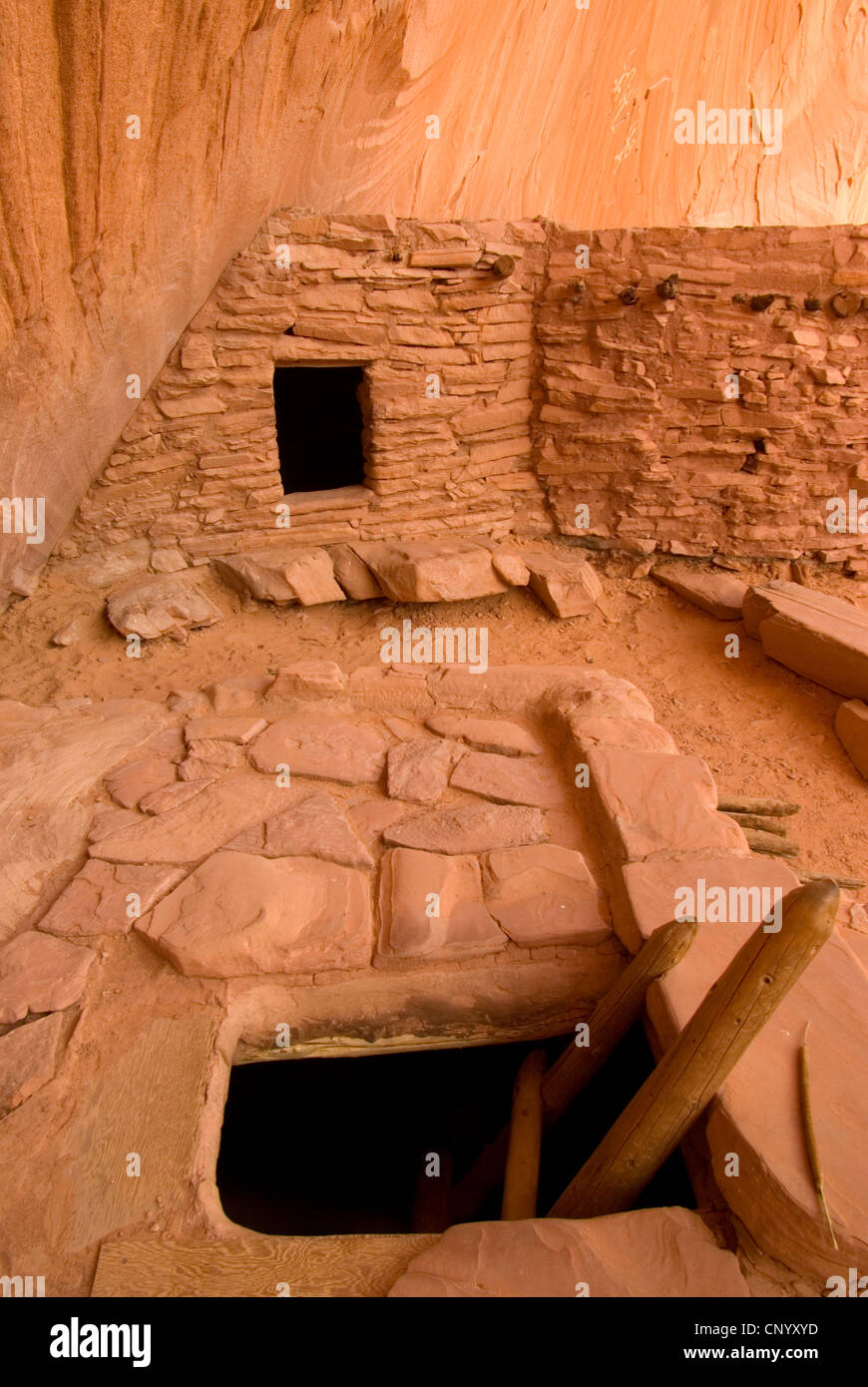 Defiance House Ruin, Glen Canyon National Recreation Area, Lake Powell, Utah - Stock Image