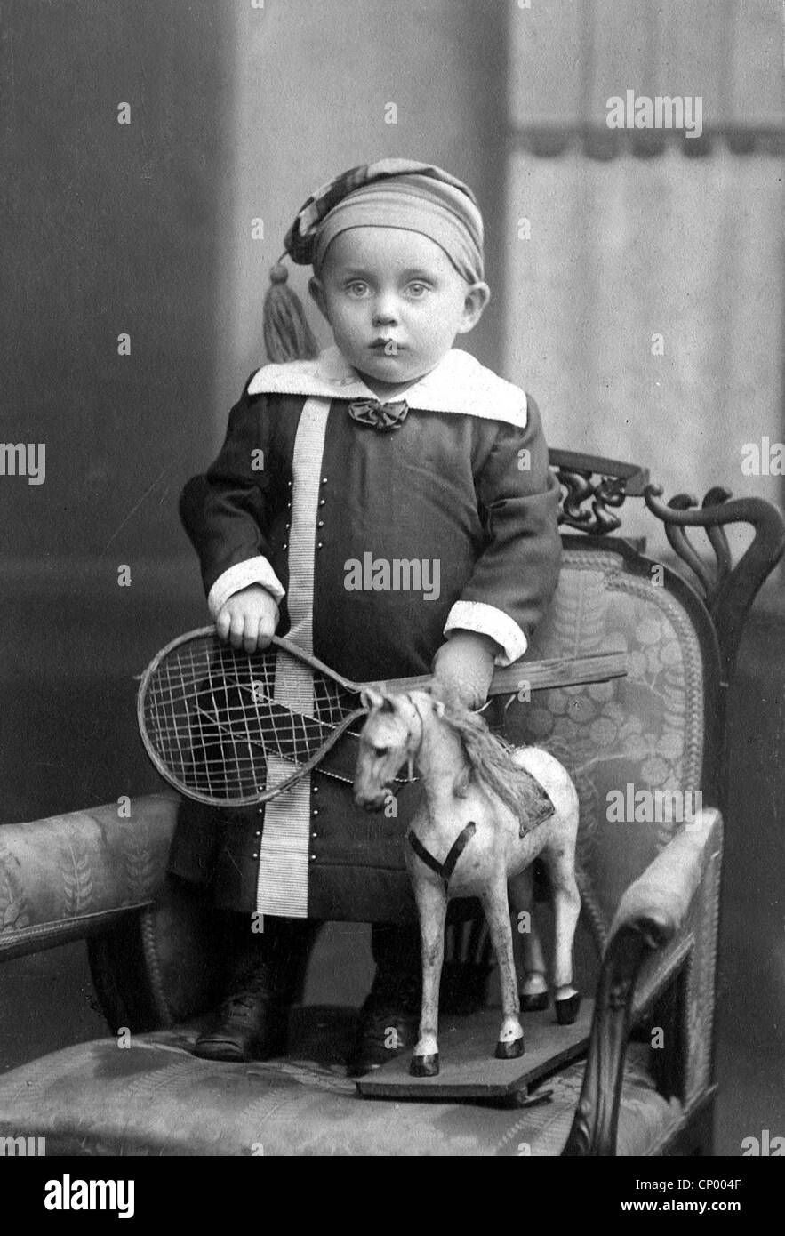 People Children Child With His Toys Carte De Visite Sig Bing