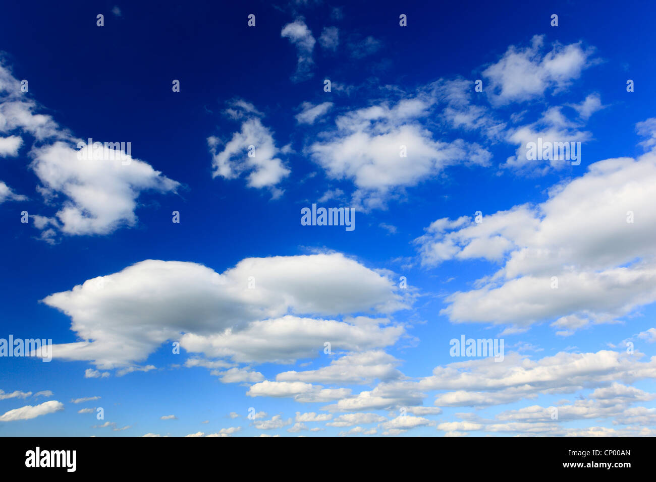 clouds at blue sky - Stock Image