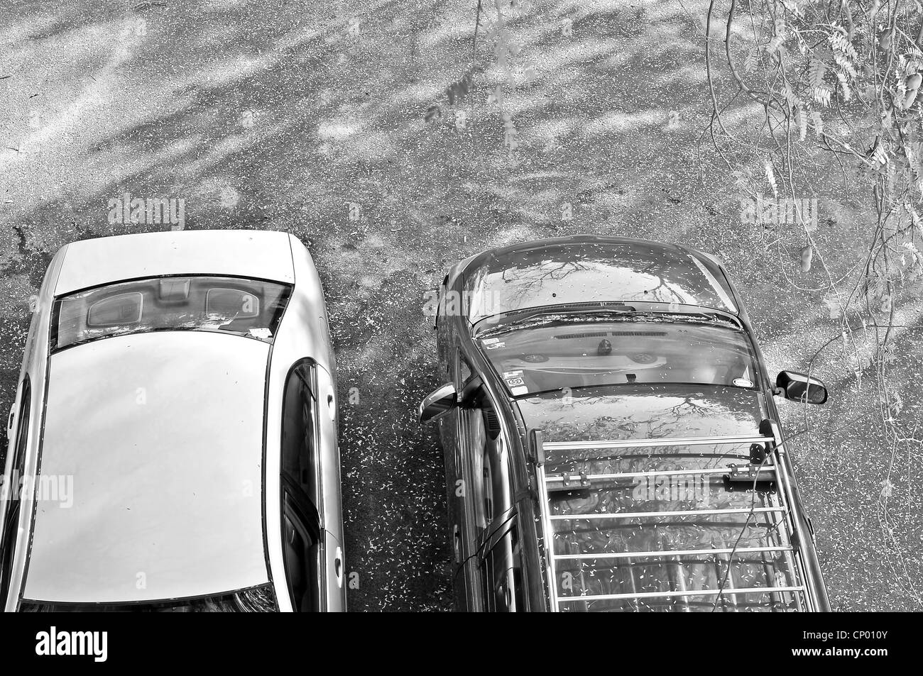 Two car parked - Stock Image