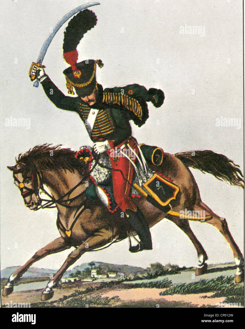NAPOLEONIC ARMY: cavalrym an of the 2nd Hussars - Stock Image