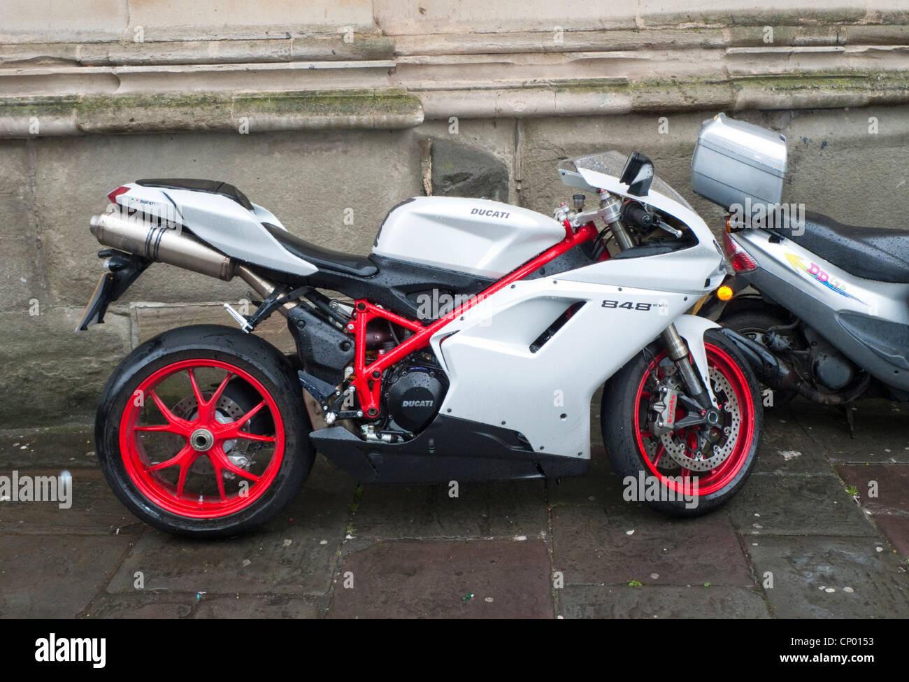 Ducati 848 Evo Motorcycle Stock Photo