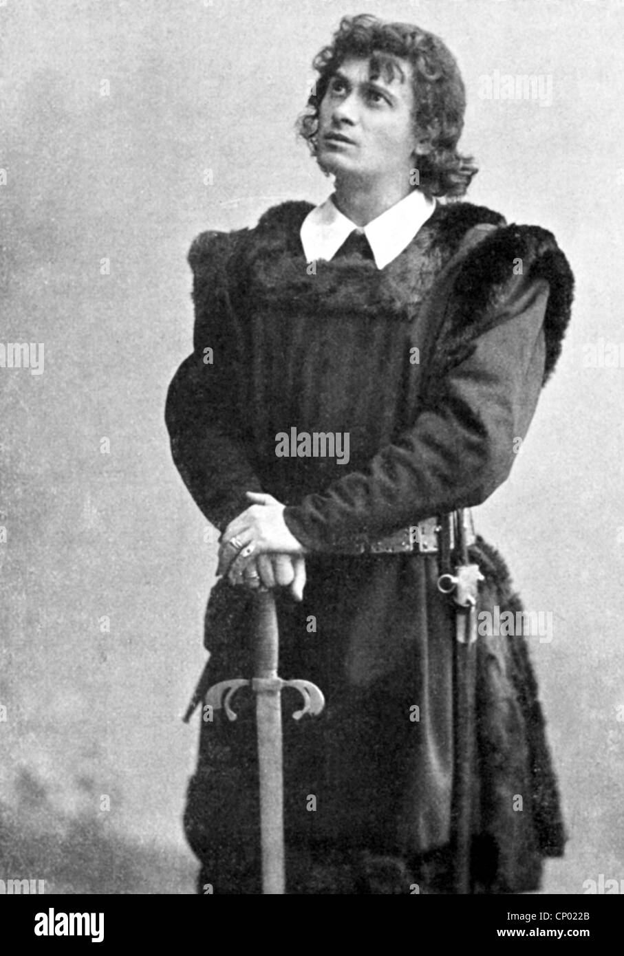 Kainz, Josef, 2.1.1858 - 20.9.1910, Austrian actor, as Hamlet in the play 'Hamlet' by William Shakespeare, - Stock Image