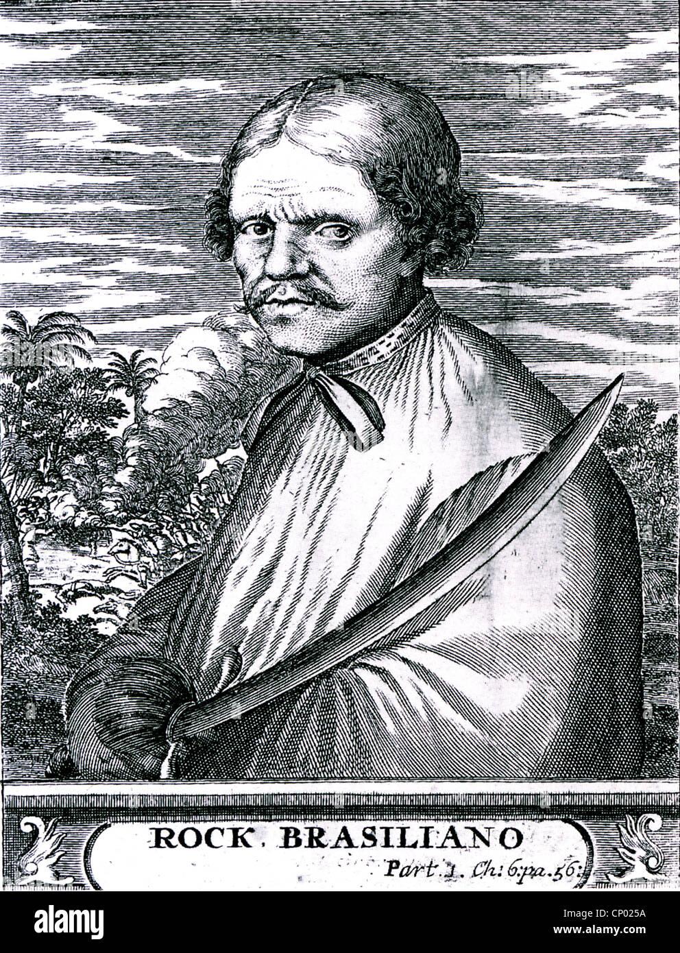 ROCHE BRAZILIANO (c 1630- c 1671) Dutch pirate - Stock Image