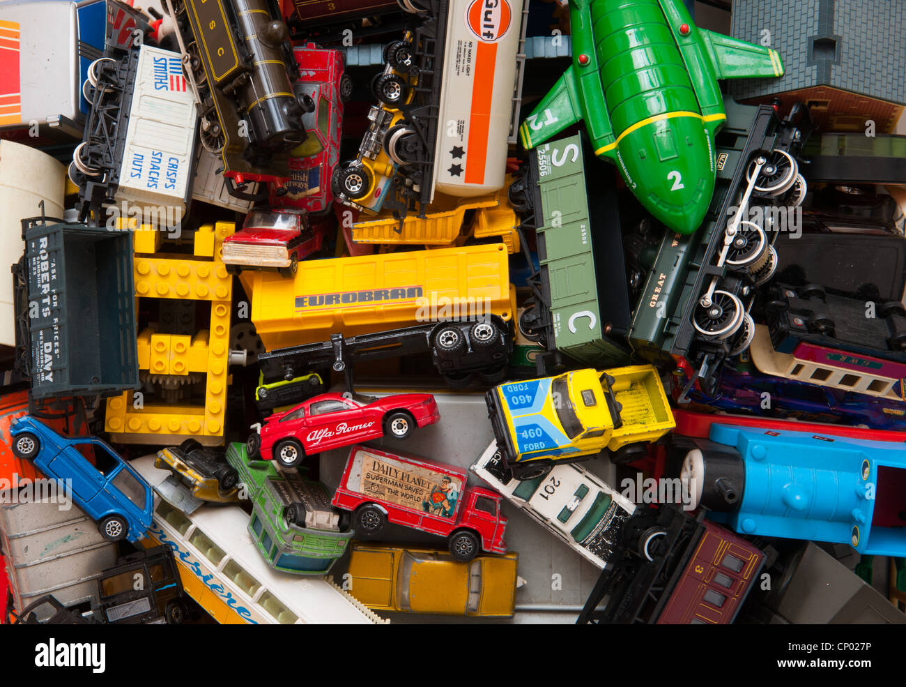 A Collection Of Old Toys - Stock Image