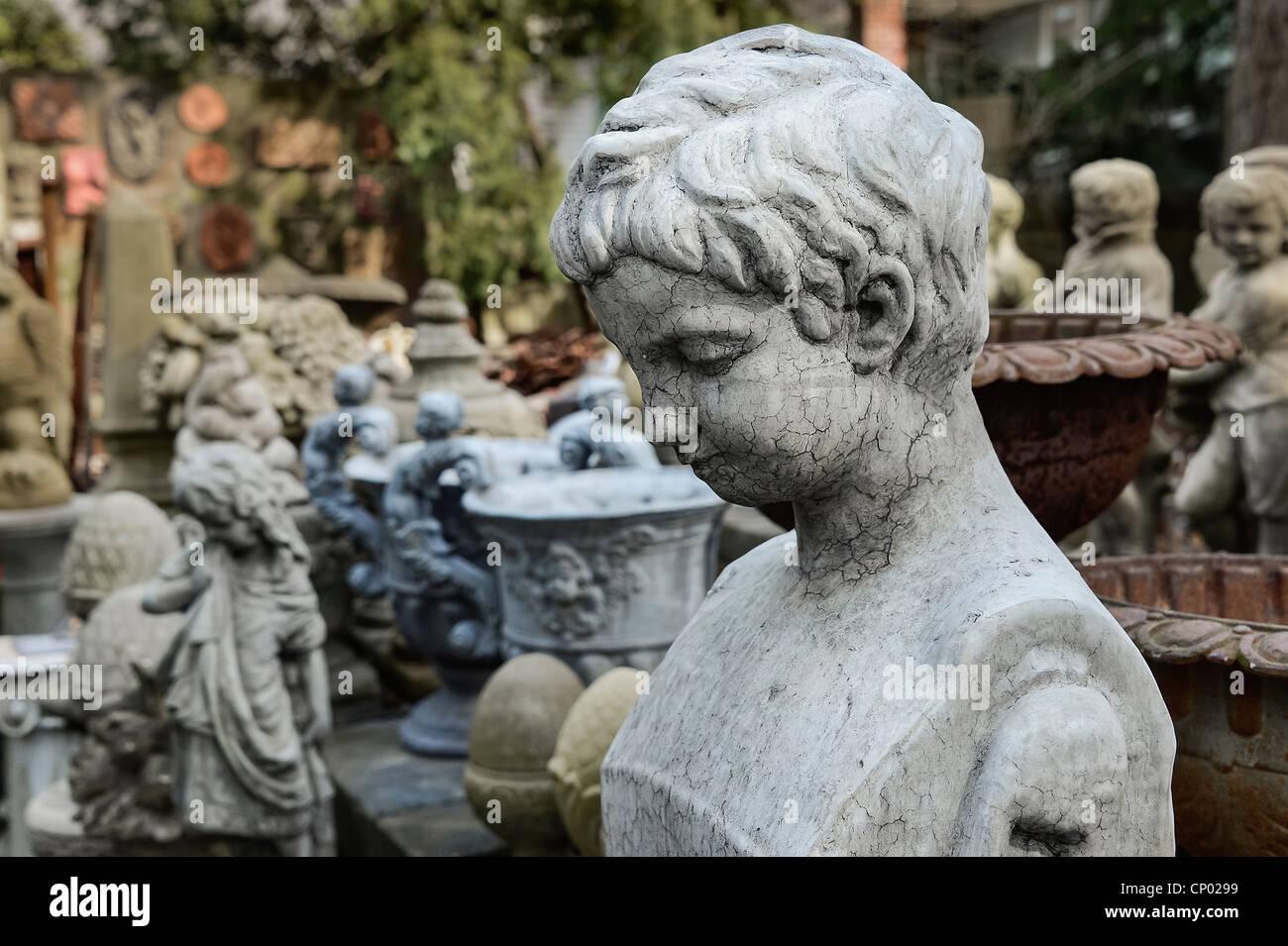 Garden statuary. - Stock Image