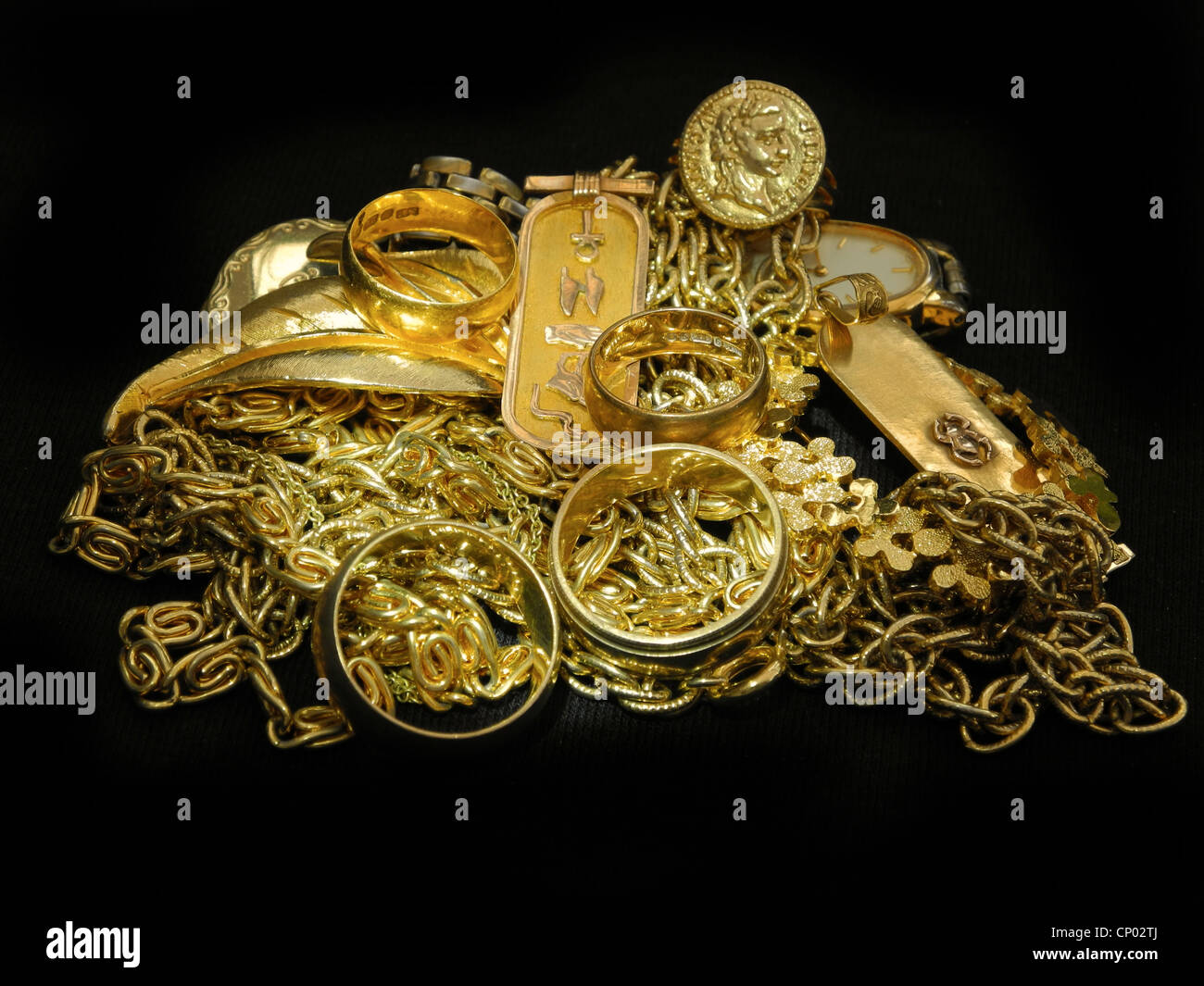 Scrap gold is at an all-time high. - Stock Image