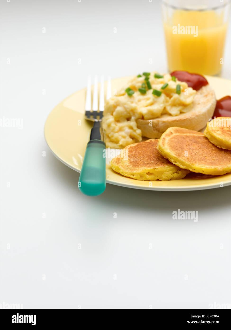 Sweetcorn Pancakes - Stock Image