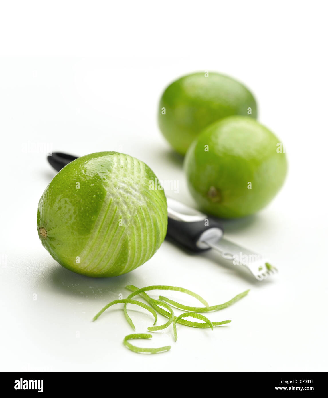 Lime Zesting - Stock Image