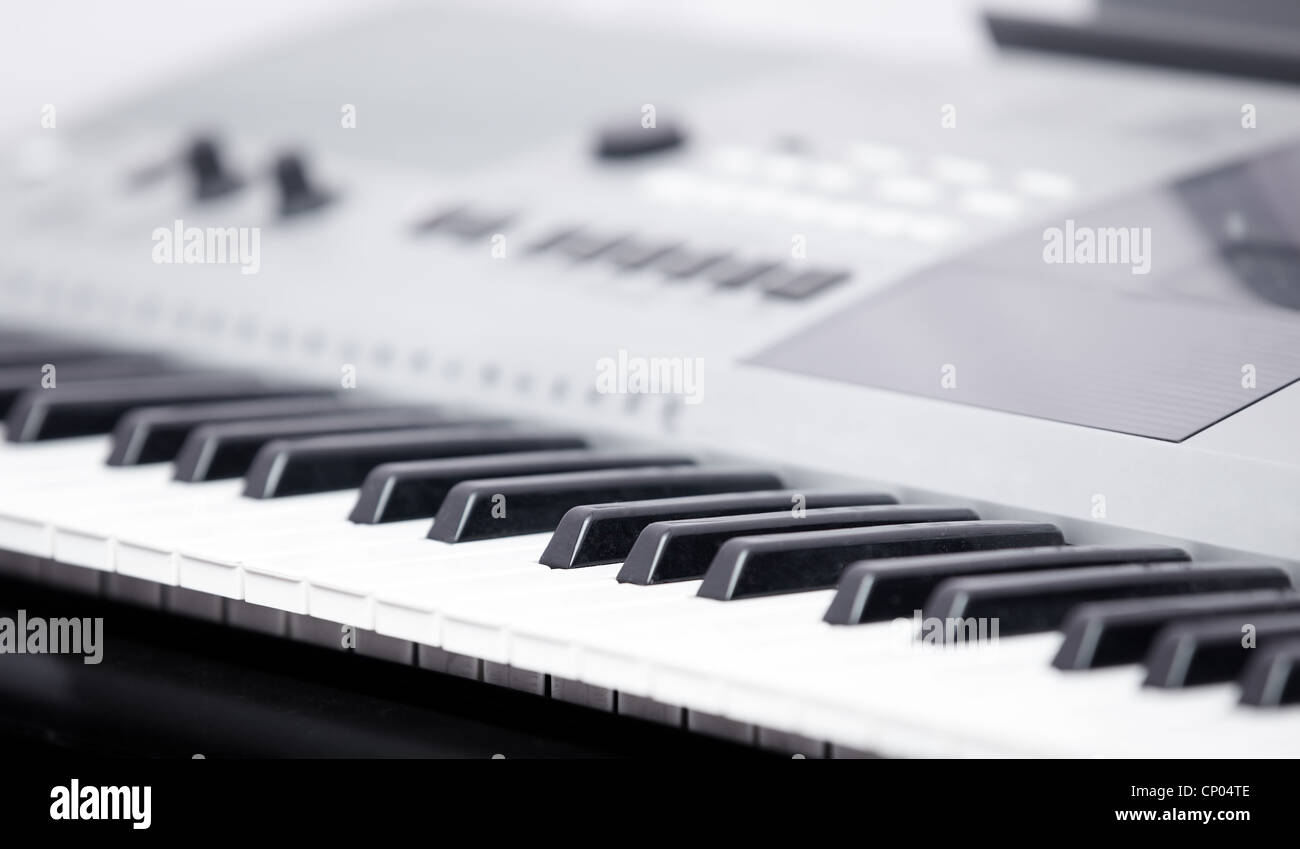 Electronic music instrument. Close-up photo. Shallow depth of field added for natural look - Stock Image